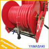 Water Hose Reel, Carbon Steel and Powder Finish, Capacity 3/4 I. D Hoses of 100 Feet,