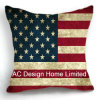 Decoration Square America Flag Design Decor Fabric Cushion W/Filling