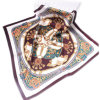 New Design Digital Printing Silk Scarf Polyester Printed Head Accessories Square Satin Scarf