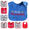 China Supplier Customized Design Embroidered Cotton Terry Cheap Baby Bib