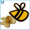 High Quality Custom USA Bee Lapel Pin in 24K Gold in Hard Enamel for Promotion Gifts