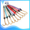 46inch Straight Umbrella Customized Japanese Colorful Ladies Straight Umbrella with Bamboo Crook Handle