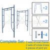 Light Duty Steel Frame System Scaffolding for Construction, Guangzhou Manufacturer (HF1930)