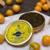 50g, 125g, 250g Caviar Tin Cans with Golden Varnish Vacuum Packaging