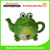 Animal Frog Design Ceramic Teapot in Color Glazed Finished