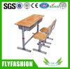 Wooden Double Desk Set for Classroom Sf-04D