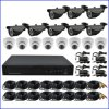 1.3MP Ahd CCTV DVR Kits 16CH Standalone Network DVR with 16CH Surveillance Camera Security System
