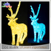 Outdoor Square Christmas LED 3D Acrylic Reindeer Decoration Light