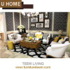 Royal Living Room Furniture Coffee Table and Leather Sofa Set