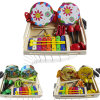 Wooden Musical Kit Toy for Kids 7 PCS Toy Two Drums Educational Learning Toy Xylophone Shakers Bells Baby Toy with Storage Box