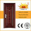 Steel Door Price Iron Grill Door Designs for Apartment (SC-S039)