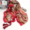 Chinese Style Long Geometric Beach Shawl Lady Fashion Scarf