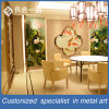 Customized Stainless Steel Chinese Style Golden Room Divider Project Case