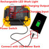 10W LED Work Light Rechargeable Camping Lantern IP55 Waterproof Power Bank Portable Outdoor Walking Hiking Emergency Lamp Daylight White Red Flash