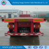 3 Axle 50ton Capacity/Container Transport/Cargo Transport Flatbed Semi Trailer with Twist Lock/China Famous Brand