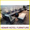 Fashion Wooden Long Sectional Lounge Sofa for 5 Star Hotel