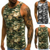 Fitness Men Tank Top Army Camo Camouflage Mens Gyms Muscle Bodybuilding Tank Tops Clothing Sleeveless Shirt Tops Tees Vest