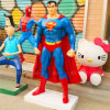 Life Size Resin Famous Cartoon Movie Superman Marvel Sculpture for Shopping Mall and Street