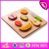 2015 New Wooden Role Play Toy for Kids, Wooden Role Play Set Toy Cutting Fruit, Wholesale Cheap Kitchen Set Role Play Toy W10b121