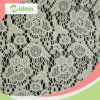 Warp Knitting Net Lace Embroidered Nylon and Cotton Lace Fabric