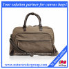 Vintage Brown Canvas Overnight Bag for Men