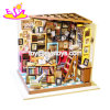 2018 New Arrival Kids Wooden DIY Miniature Bookstore for Home Decor W06A341