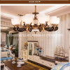 European LED Light Zinc Alloy Chandelier Ceiling Light