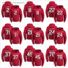 High Quality Sublimation Printing Falcons Hoodies on Red Background