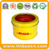 Round Tin Can with Clear Transparent Window, Metal Tin Box