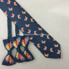 Hand Made 100% Silk Printed Neck Ties and Bows Ties