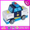 2015 New Style Big Wooden Police Toy, Promotional Toy Kids Police Mini Car Toy, Police Car Model Toy Wooden Police Car Toy W04A119