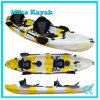 3 Person Not Inflatable Fishing Kayak Sit on Top Plastic Boat for Sale