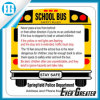 Customized Shape School Bus Stickers Decals