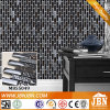 Black Color Wall Tile, Marble and Glass Mosaic (M855049)