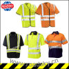 En471 Orange/ Green/ Yellow Polyester Safety High Visibility Clothes