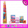2015 Non-Toxic Creative Kids Wooden Stack Toy, Children Big Building Stacking Block Toys, Educational Toy Stacking Cup Toy W13D088