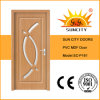 Hot Sale Interior PVC MDF Glass Wood Bathroom Door (SC-P161)