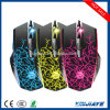 6 Buttons 2400 Dpi Adjustable Optical USB Wired Gaming Mouse with 6 Colors Breathing LED