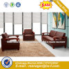 Wooden Living Room Leather Classic Sofa (HX-S355)