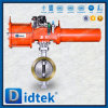 Didtek Triple Offset Flanged Pneumatic Butterfly Valve