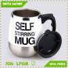 Electric Coffee Mug Self Stirring Double Layer Stainless Steel Self Mixing Cup for Morning, Office, Travelling