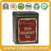 Rectangle Tin Canister Metal Tea Caddy for Irish Breakfast Tea