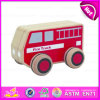 2015 Mini Cartoon Fire Truck Toy for Kid, Red Color Mini Wooden Fire Truck Toy for Children, Mini Fire Truck Toy Wholesale W04A115