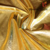Metallic Foil Printing Stretch Fabric for Dress and Garment