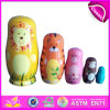 2014 Colorful Wooden Russia Nest Dolls for Kids, Cute Russia Nest Doll for Children, Russia Matryoshka Nest Doll for Baby Factory W06D039