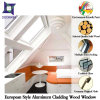 Oak Wood Aluminum Tilt Turn Window for Europe Villa, Popular Finished Aluminum Tilt Window with Double Glass