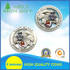 Promotional Shiny Silver Color Plated Souvenir Commemorative Coin