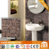 Coffee Golden Line Bathroom Wall Melting Glass Mosaic (H420043)