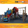 Childern Playground Bule&Red House Climber&Slide (PE-04901)