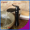 Fyeer New Fashion Big Spout Bathroom Waterfall Black Vessel Faucet